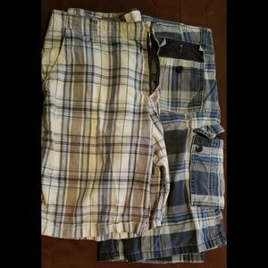TWO pairs of Cargo shorts